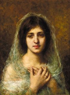 "Alexei Alexeivich Harlamoff, ""Portrait of a Young Girl"""