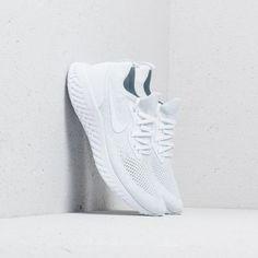 Nike Epic React Flyknit True White  White-Pure Platinum. Footshop 5738acd91