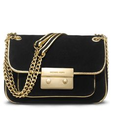 Michael Kors Crossbody Michael Kors Sloan Black Suede Gold Leather Chain Crossbody Bag Turnlock. Excellent condition only worn a couple of times. Comes with dust bag. Straps can be worn multiple ways. Multiple interior compartments Michael Kors Bags Crossbody Bags