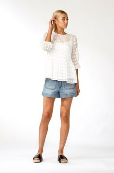 The best of what's new! Shop the Willow Blouse in stores and online now www.decjuba.com.au