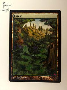 Forest - Full Art Land - MTG Alter - Revelen's Light Altered Art Magic Card