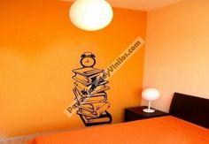 ¿Quieres decorar tu habitación de forma original y personalizada? No busques más, con vinilos adhesivos podrás crear espacios muy bonitos y con acabados profesiones. Decora de forma económica y divertida. Te presentamos uno de nuestros diseños ¡Visítanos! http://www.papelpintadoyvinilos.com/vinilos-decorativos-originales/vinilos-decorativos-adhesivos-de-pared-libros-aqm3939.html