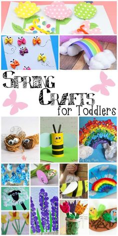 Awesome roundup of gorgeous spring crafts! All perfect for activities for toddlers this spring!