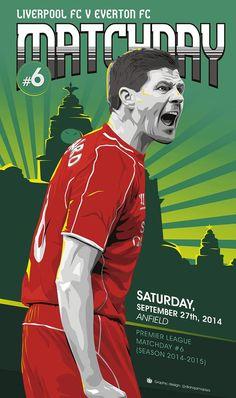 ♠ Matchday #6 - Liverpool FC vs Everton #LFC #Artwork