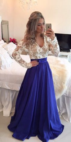 Fashin Prom Dress,Long Sleeve Prom Dresses,Lace prom #prom #promdress #dress #eveningdress #evening #fashion #love #shopping #art #dress #women #mermaid #SEXY #SexyGirl #PromDresses