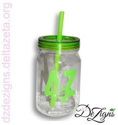 DZ DeZigns Sorority Accessories! Delta Zeta Turtle Mason Jar