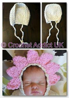 Ravelry: Springtime Flower Bonnet pattern by Crochet AddictUK