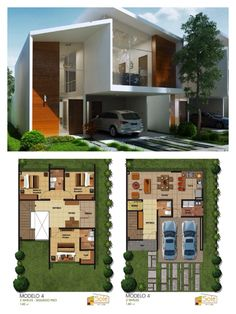 Projetos Home Modern, Modern House Plans, Villa Plan, Duplex Design, Dream Home Design, Dream House Plans, Architecture Plan, House Layouts, Autocad