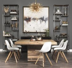 Creative Rustic Dining Room Design Ideas - Home Design - lmolnar - Best Design and Decoration You Need Luxury Dining Tables, Modern Dining Room Tables, Square Dining Tables, Dining Room Walls, Dining Table Chairs, Dining Room Design, Dining Room Furniture, Living Room, Furniture Ideas