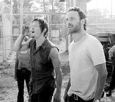 Norman Reedus and Andrew Lincoln Daryl And Rick, Dead King, The Walking Dead 2, Dead To Me, Stuff And Thangs, Andrew Lincoln, Rick Grimes, Daryl Dixon, Man Alive