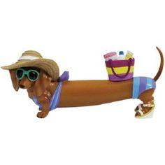 Hot Diggity Dog Pool Time Dachshund Figurine Westland 17963 Beach Party Figure   eBay