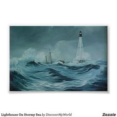 Lighthouse On Stormy Sea