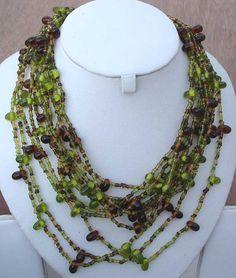 Ethnic Designer Belly Dance Hippy Glass Bead Necklace