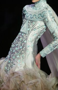 Christian Dior Haute Couture....An all seen eye and Egyptian design ....mmmmm...