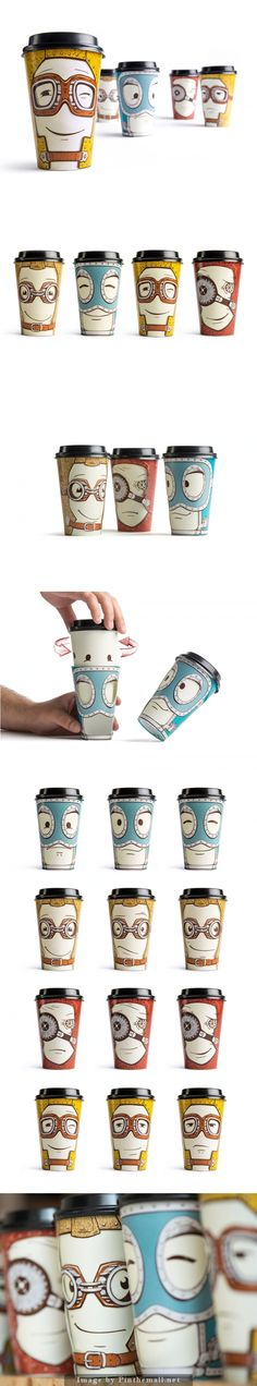 What i like about this one is how the illustrations aid in giving each cup a personality/character  which helps it seem more than just a cup.