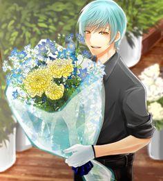 My crane, he gave me flowers.