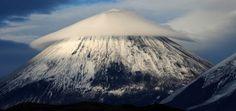 Weird cloud above Mountain in Russia