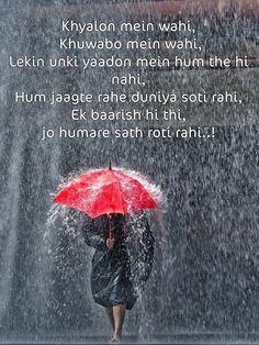Hindi Quotes, Sad Quotes, Best Quotes, Qoutes, Awesome Quotes, Heart Touching Lines, Heart Touching Shayari, Proverbs 27, I Love Rain