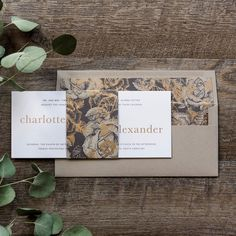 Charlotte Wedding Invitation Engaging Papers