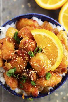 Slow cooker / crock pot orange chicken recipe.