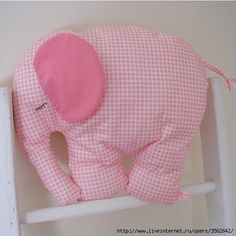 Elephant pillow with pattern