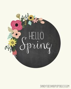"Free Spring Printable ""Hello Spring""  | Popsicleblog.com"