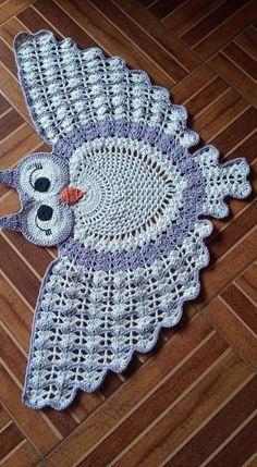 Crochet Ripple Blanket, Crochet Quilt, Crochet Tablecloth, Crochet Motif, Crochet Doilies, Crochet Stitches, Owl Crochet Patterns, Animal Knitting Patterns, Crochet Designs