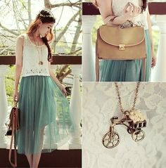 SEA GREEN (by Jasmine L) http://lookbook.nu/look/3467209-SEA-GREEN   so I guess my thing is seafoam green and lace?