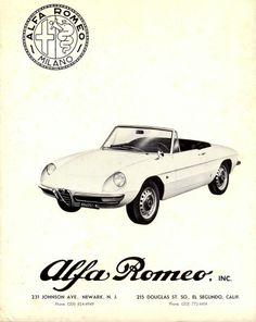 Alfa Romeo Duetto Sales Literature