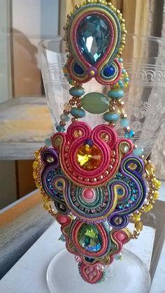 Big earrings soutache design by Daniela Cipolla per DC Bijoux