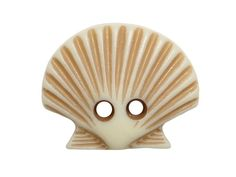 Scallop Shell <br> 11/16 inch ( 18 mm ) <br> Set of 12 Buttons - product images
