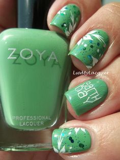 Earth Day Mani With @Zoya Zinger Nail Polish Josie! #ZoyaNailPolish