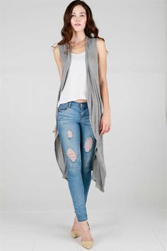 fc12395b7a40e not a fan of destructed denim but love the cardigan Long Reese Cardigan on  Emma Stine Limited
