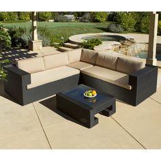 Amazon.com : Best Choice Products 7PC Furniture Sectional PE Wicker Rattan  Sofa Set Deck Couch Brown : Patio, Lawn U0026 Garden | Ideas: Backyard |  Pinterest ...