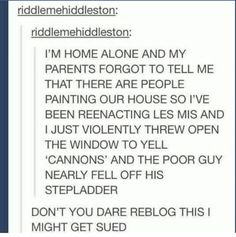 26 ideas for funny humor laughing so hard hilarious lol haha Funny Shit, The Funny, Funny Stuff, Random Stuff, Funny Things, Les Mis Funny, Funny Tumblr Posts, My Tumblr, Haha