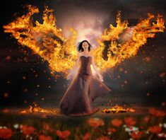 """CREATE """"WINGS ON FIRE"""" EMOTIONAL SCENE PHOTO MANIPULATION IN ADOBE PHOTOSHOP"""
