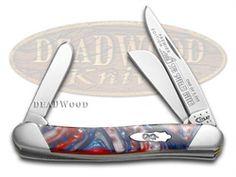 CASE XX Slant Series Star Spangled Banner Medium Stockman 1/2500 Pocket Knife - CA9318-S-STAR | 9318-S-STAR - 026615904762