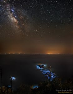 Astronomy Picture of the Day - 2015 April 24 Blue Tears and the Milky Way Image Credit & Copyright: Rogelio Bernal Andreo (Deep Sky Colors)