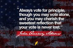 Regardless of what those in government might say and what the masses might urge, always vote your conscience!  www.ShaneKrauser.com