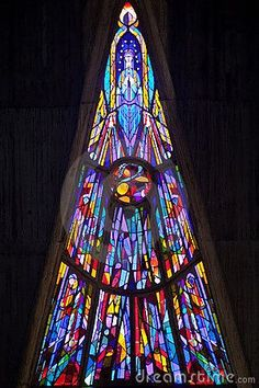 Modern Stained Glass Royalty Free Stock Photography - Image: 10486957 #StainedGlassChurch