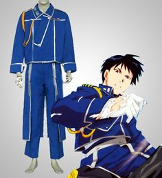 Colonel Roy Mustang Military Clothes Fullmetal Alchemist Cosplay
