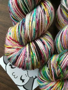 """SW Merino 80/20 2 ply Hand-Dyed Speckled Sock Yarn -400yds """"Bad Egg"""""""