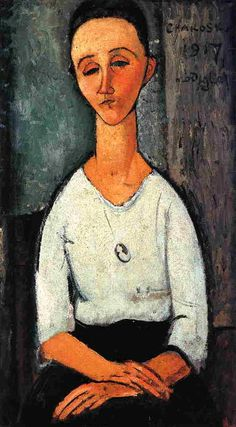 'Chakoska', öl auf leinwand von Amedeo Modigliani (1884-1920, Italy)