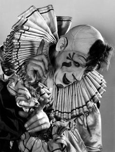 """Lon Chaney in """"Laugh, Clown, Laugh"""" 1928. Its a silent film, but it always makes me cry."""