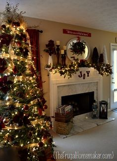 Christmas decor inspiration. Love some of her ideas....definitely going to use them myself.