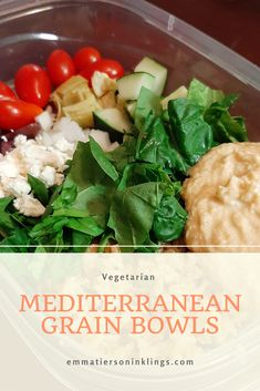 Meal prep away with this quick, easy, and oh so delicious #vegetarian #Mediterranean grain bowl! #mealprep #healthyfood #easyrecipe