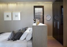 Normandy Shutters are made from the world's fastest growing tree species, our Normandy timber shutters are not only gentle to the touch, but are gentle on the environment too. Fast Growing Trees, Wood Shutters, Normandy, Bedroom, Interior, Fastest Growing Trees, Normandie, Wood Blinds, Wooden Shutters