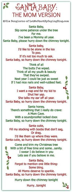 Santa Baby, the mommy version lol
