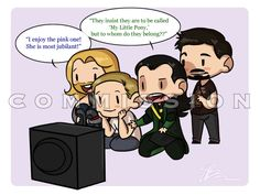 Tony trying to teach Thor, Loki and Steve what 'My Little Pony' is. How does he know what 'My Little Pony' is?