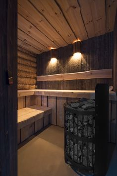 Sauna made by VSB Wellness Basement Sauna, Building A Sauna, Sauna Shower, Outdoor Sauna, Sauna Design, Finnish Sauna, Log Cabin Designs, Steam Sauna, Spa Rooms